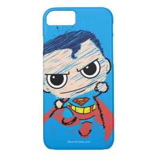 Mini Superman Sketch - Flying iPhone 7 Case