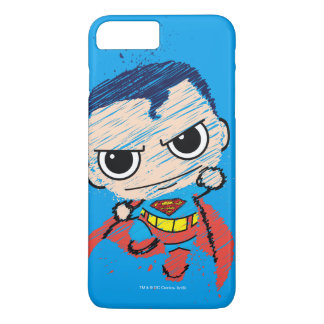 Mini Superman Sketch - Flying iPhone 8 Plus/7 Plus Case