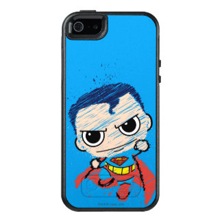 Mini Superman Sketch - Flying OtterBox iPhone 5/5s/SE Case