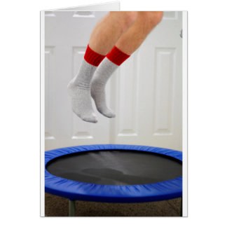 Mini Trampoline Jumping Card