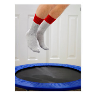 Mini Trampoline Jumping Postcard