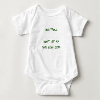 mini troll baby bodysuit