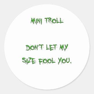 mini troll round sticker