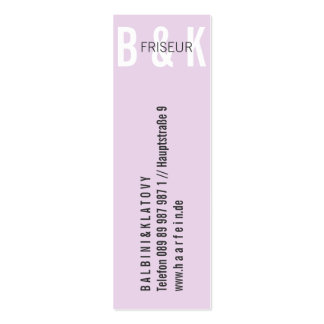 Mini visiting cards hairdresser pack of skinny business cards