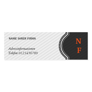 Mini visiting cards pack of skinny business cards
