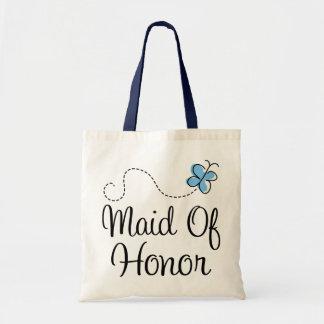 Mini Wedding Day Maid Of Honor Blue Tote Bag