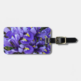Miniature Blue Irises Spring Floral Luggage Tag