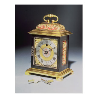 Miniature bracket clock postcard