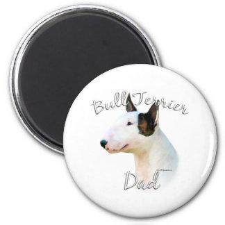 Miniature Bull Terrier Dad 2 6 Cm Round Magnet
