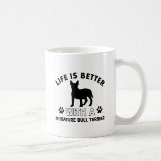 Miniature Bull Terrier designs Coffee Mug