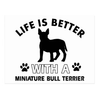 Miniature Bull Terrier designs Postcard
