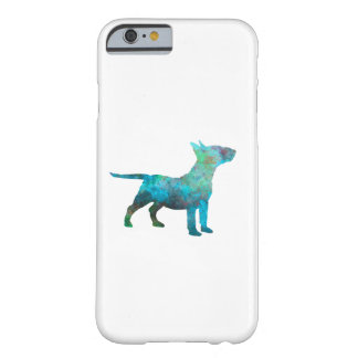 Miniature Bull terrier in watercolor Barely There iPhone 6 Case