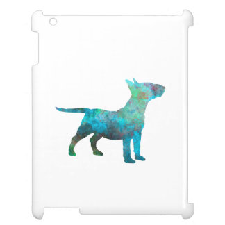 Miniature Bull terrier in watercolor Cover For The iPad