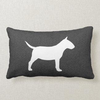 Miniature Bull Terrier Silhouette Lumbar Cushion