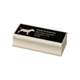 Miniature Bull Terrier Silhouette Return Address Rubber Stamp