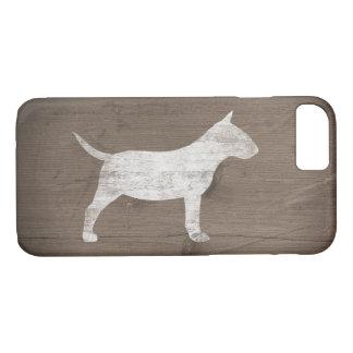 Miniature Bull Terrier Silhouette Rustic iPhone 8/7 Case