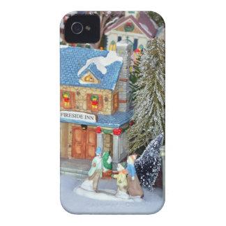 Miniature christmas village iPhone 4 case