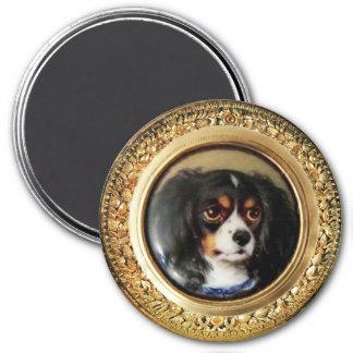 MINIATURE DOG PORTRAITS Tricolor Spaniel Refrigerator Magnet
