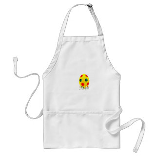 Miniature figurines painting yellow easter egg standard apron