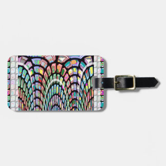 Miniature FineArt Abstract Wave Pattern on gifts Bag Tag