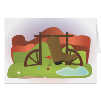 Miniature Golf Course Hole No.16 Card