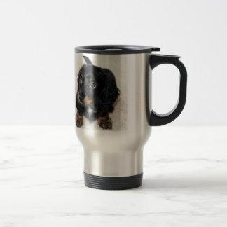 Miniature Long Haired Dashund Travel Mug