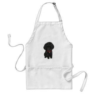 Miniature or Toy Poodle - Black 1 Apron