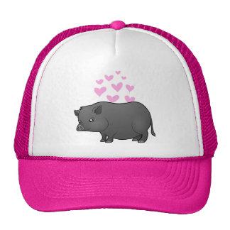 Miniature Pig Love Cap