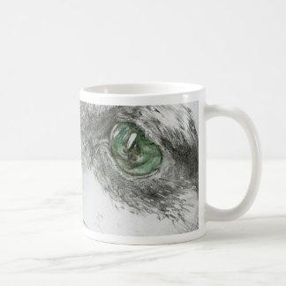 Miniature pin shear drawing coffee mug