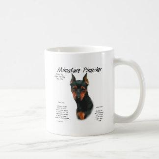 Miniature Pinscher (blk/rust) History Design Coffee Mug