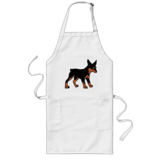 miniature pinscher cartoon long apron