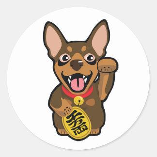 Miniature Pinscher Chocolate Min Pin Dog Sticker