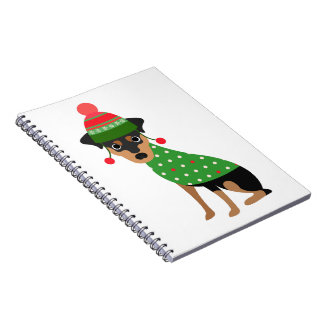 Miniature Pinscher Christmas Notebook