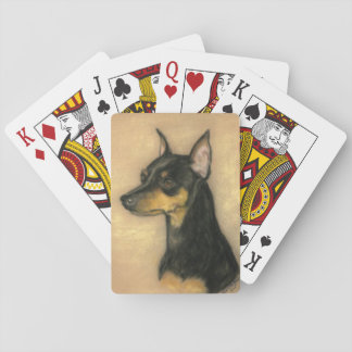 Miniature Pinscher Dog Art Playing Cards
