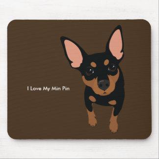 Miniature Pinscher Dog Mousepad (Black Tan)