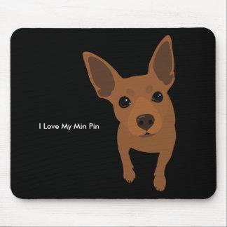 Miniature Pinscher Dog Mousepad (Red Rust)