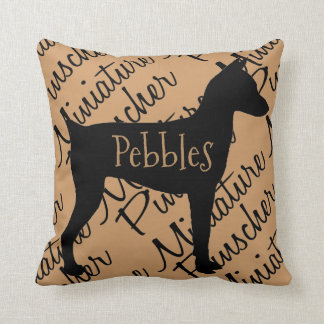 Miniature Pinscher Dog Silhouette Cushion