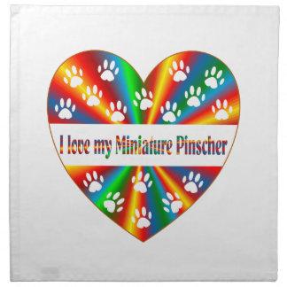 Miniature Pinscher Love Napkin