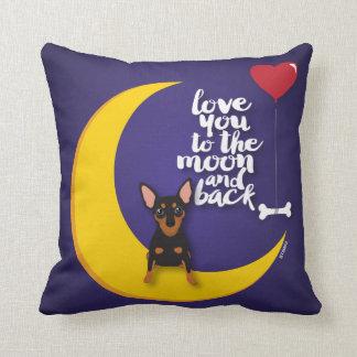 Miniature Pinscher Love You to the Moon Pillow