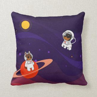 Miniature Pinscher (Min Pin) in Space Throw Pillow