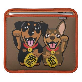 Miniature Pinscher Min Pin Lucky Dog iPad Sleeve
