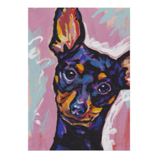 Miniature Pinscher Min Pin Pop Art Print