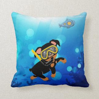 Miniature Pinscher Min Pin Under the Sea Pillow
