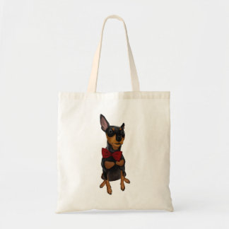 Miniature Pinscher (Min Pin) with Bow Tote Bag