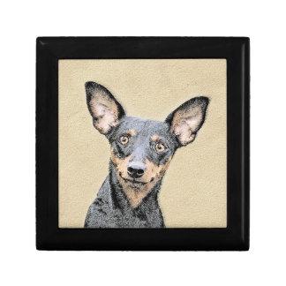 Miniature Pinscher Painting - Cute Original Dog Ar Gift Box
