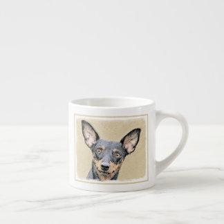 Miniature Pinscher Painting Cute Original Dog Art Espresso Cup