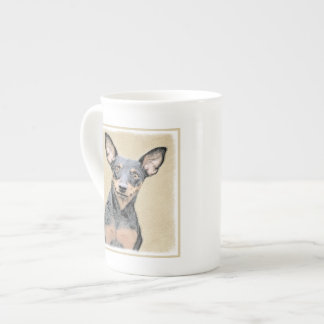 Miniature Pinscher Painting Cute Original Dog Art Tea Cup