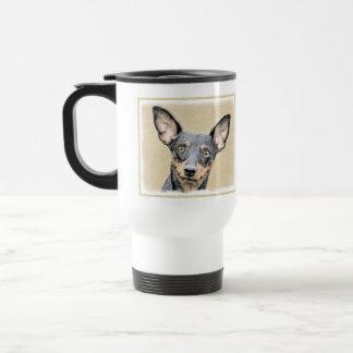 Miniature Pinscher Painting Cute Original Dog Art Travel Mug