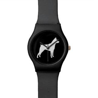 Miniature Pinscher Silhouette Watch