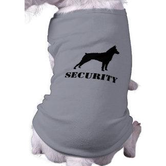 Miniature Pinscher Silhouette with Custom Text Sleeveless Dog Shirt